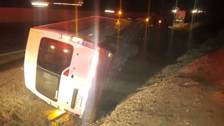 Tres heridos tras despiste de auto que se dirigía de Chimbote a Trujillo