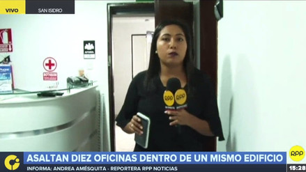 Delincuentes asaltaron diez oficinas en un edificio ubicado en la avenida Javier Prado