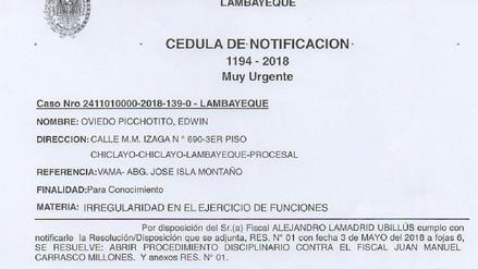 Odecma investiga a fiscal por presuntas irregularidades en su función