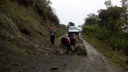 Lluvias bloquean vías en distrito altoandino de Kañaris