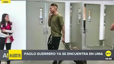 Paolo Guerrero llegó a Lima tras el fallo que lo marginó de Rusia 2018