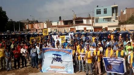 Mototaxistas protestarán este viernes 18 contra anillo vial