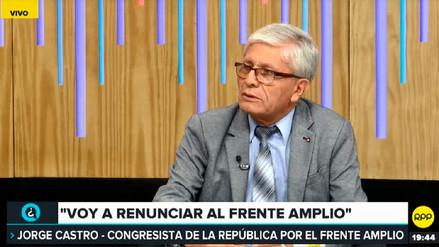 Jorge Castro anunció que renunciará a la bancada del Frente Amplio