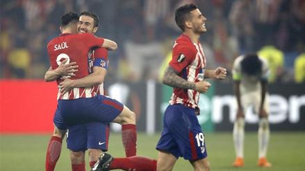 Las mejores imágenes de la celebración del Atlético de Madrid tras ganar la Europa League