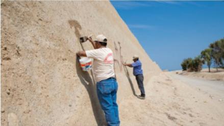 Sugieren campañas educativas en sitios arqueológicos tras pintas en Chan Chan