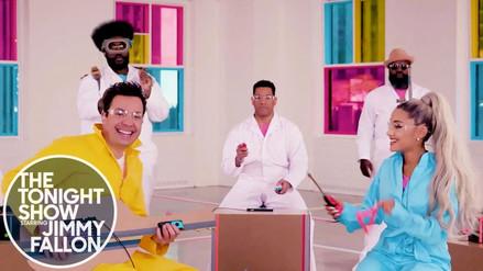Ariana Grande y Jimmy Fallon hacen música con Nintendo Labo