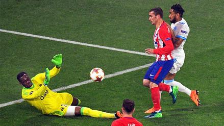 Con doblete de Antoine Griezmann, Atlético de Madrid derrota al Marsella por la Europa League