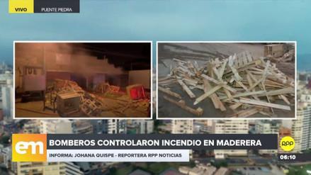 Un incendio consumió una maderera en Puente Piedra