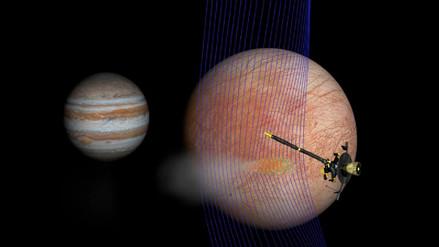 La sonda Galileo de la NASA descubrió agua en Europa, una de las lunas de Júpiter