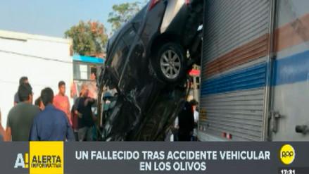 Una persona muere en accidente vehicular en Los Olivos
