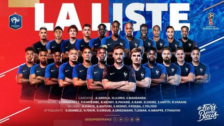 Francia reveló su lista de convocados para el Mundial Rusia 2018