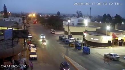 Las cámaras de seguridad de Cañete registraron el fuerte sismo de esta mañana