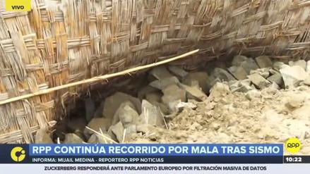 Mala: rocas cayeron sobre una casa tras el fuerte sismo de esta mañana