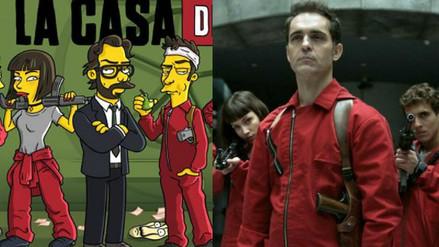 """""""La Casa de Papel"""": Los personajes de la serie  al estilo de """"Los Simpson"""""""