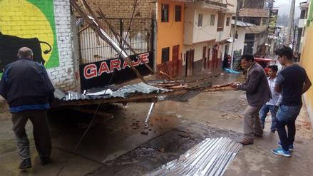 Fuertes vientos afectaron a viviendas y locales públicos en Cutervo