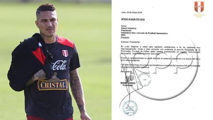 El documento que la FPF envió a la FIFA para que reciba a Paolo Guerrero