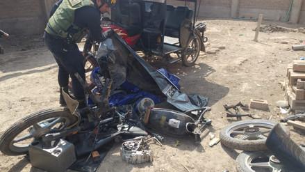 Chiclayo: intervienen corralón donde desmantelaban mototaxis robadas