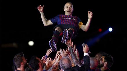Las 10 mejores imágenes del último partido de Andrés Iniesta con el Barcelona