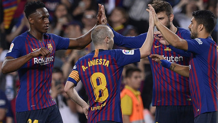 Barcelona venció 1-0 a Real Sociedad en la despedida de Andrés Iniesta