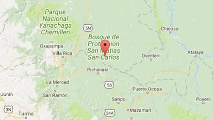 Un sismo de magnitud 4.3 sacudió la región Pasco esta noche