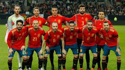Selección de España presentó su lista oficial para Rusia 2018