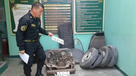 Recuperan piezas y detienen a dos tras robo cerca a casa del Presidente del PJ