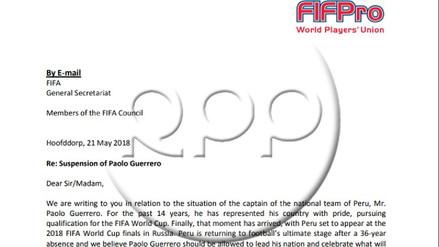 Esta es la carta que firmaron los capitanes para apoyar a Paolo Guerrero
