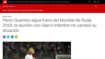 Paolo Guerrero: Medios internacionales informaron sobre la posición del presidente de FIFA