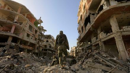 La escenas apocalípticas en un campo de refugiados palestinos recuperado en Siria