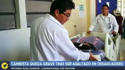 Cambista queda grave tras ser asaltado en Desaguadero