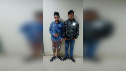 Chiclayo: dos jóvenes detenidos por arrebatar tablet a transeúnte
