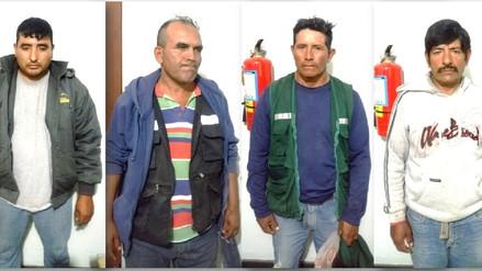 Policía detuvo a cuatro presuntos usurpadores de terrenos