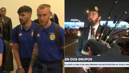 Selección de Escocia fue recibida con gaitas al llegar a Lima para el amistoso con Perú
