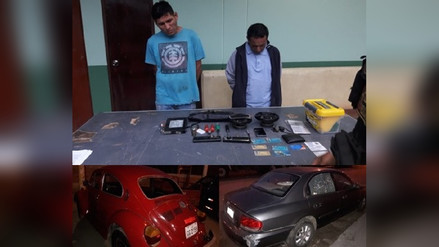Chiclayo: detienen a individuos que habrían robado autopartes