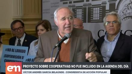 Bancadas cuestionan a Fuerza Popular por no incluir en la agenda del Pleno la ley de cooperativas