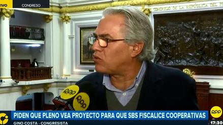 Gino Costa: Proyecto sobre cooperativas