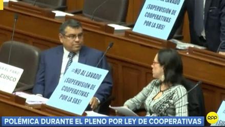 Ley para supervisar a las cooperativas generó una protesta durante Pleno del Congreso