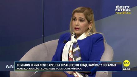 """Maritza García: """"Fujimori, Bocángel y Ramírez merecen una sanción ética"""""""