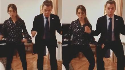El baile de Juan Manuel Santos después de enterarse que Colombia ingresó a la OCDE