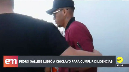 Pedro Gallese llegó a Chiclayo para someterse a prueba de ADN