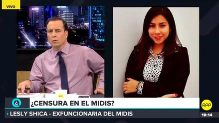 Exfuncionaria del Midis afirmó que ministra solicitó su renuncia por cuestiones ideológicas