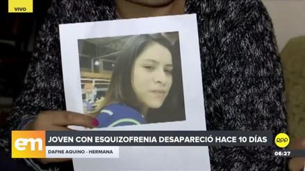 Familiares y amigos buscan a una joven con esquizofrenia desaparecida hace 10 días