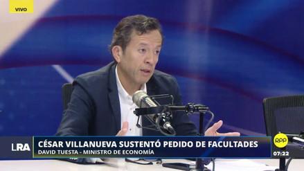 David Tuesta aseguró que nunca propuso hacer modificaciones al Impuesto a la Renta