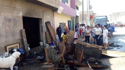 Chiclayo: incendio dejó sin vivienda a anciana de 80 años