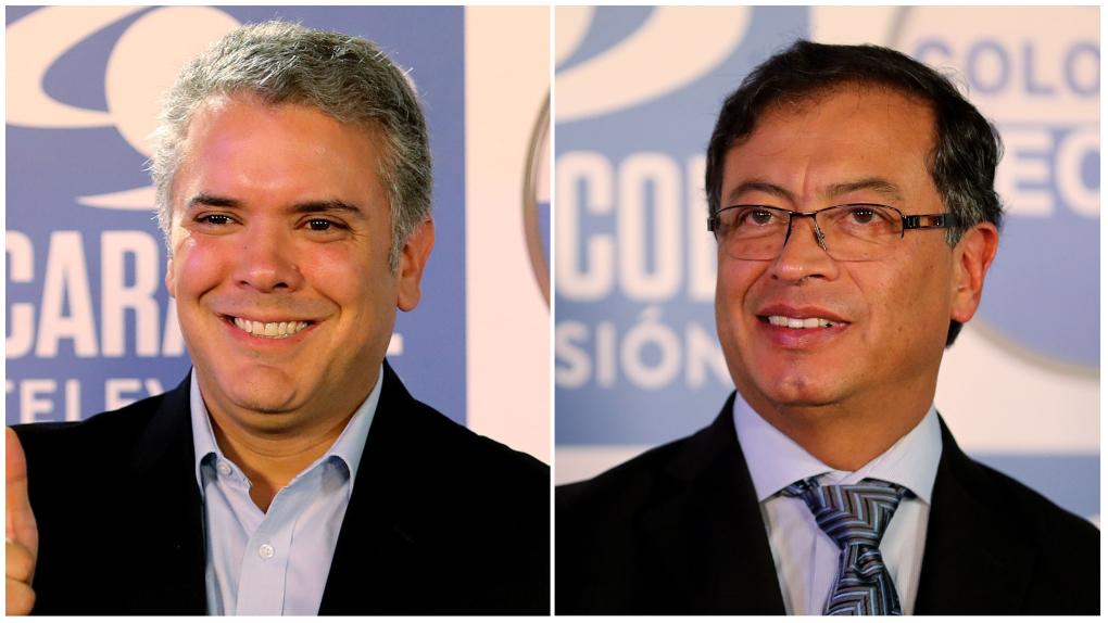 El uribista Duque y el izquierdista Petro disputarán la presidencia de Colombia en segunda vuelta