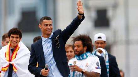 Cristiano Ronaldo se despidió de la hinchada del Real Madrid 'hasta el próximo año'