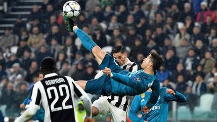 La chalaca de Cristiano Ronaldo elegido el mejor gol de la Champions League