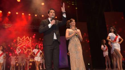 La conducción estuvo a cargo de Paco Bazán y Giuliana Zevallos, Señora Mundo 2016. | Fuente: Miss Perú Mundo