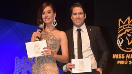 La doctora Giuliana Zevallos y el actor Paco Bazán condujeron el Miss Perú Mundo. | Fuente: Miss Perú Mundo