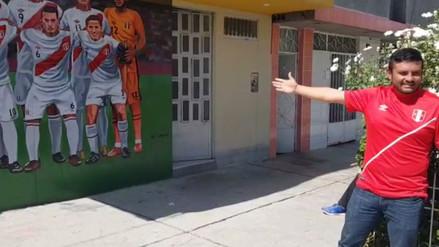 Huancayo | Hincha decoró la fachada de su vivienda con la imagen de la Selección Peruana